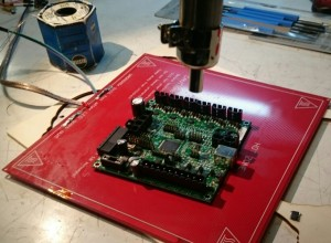 SMD Hot-Air-Soldering Rambo1.3L on RepRap Heatbed